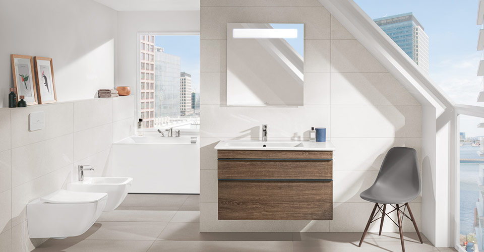 a bathroom with an inclined roof - Bathroom Designs Villeroy And Boch